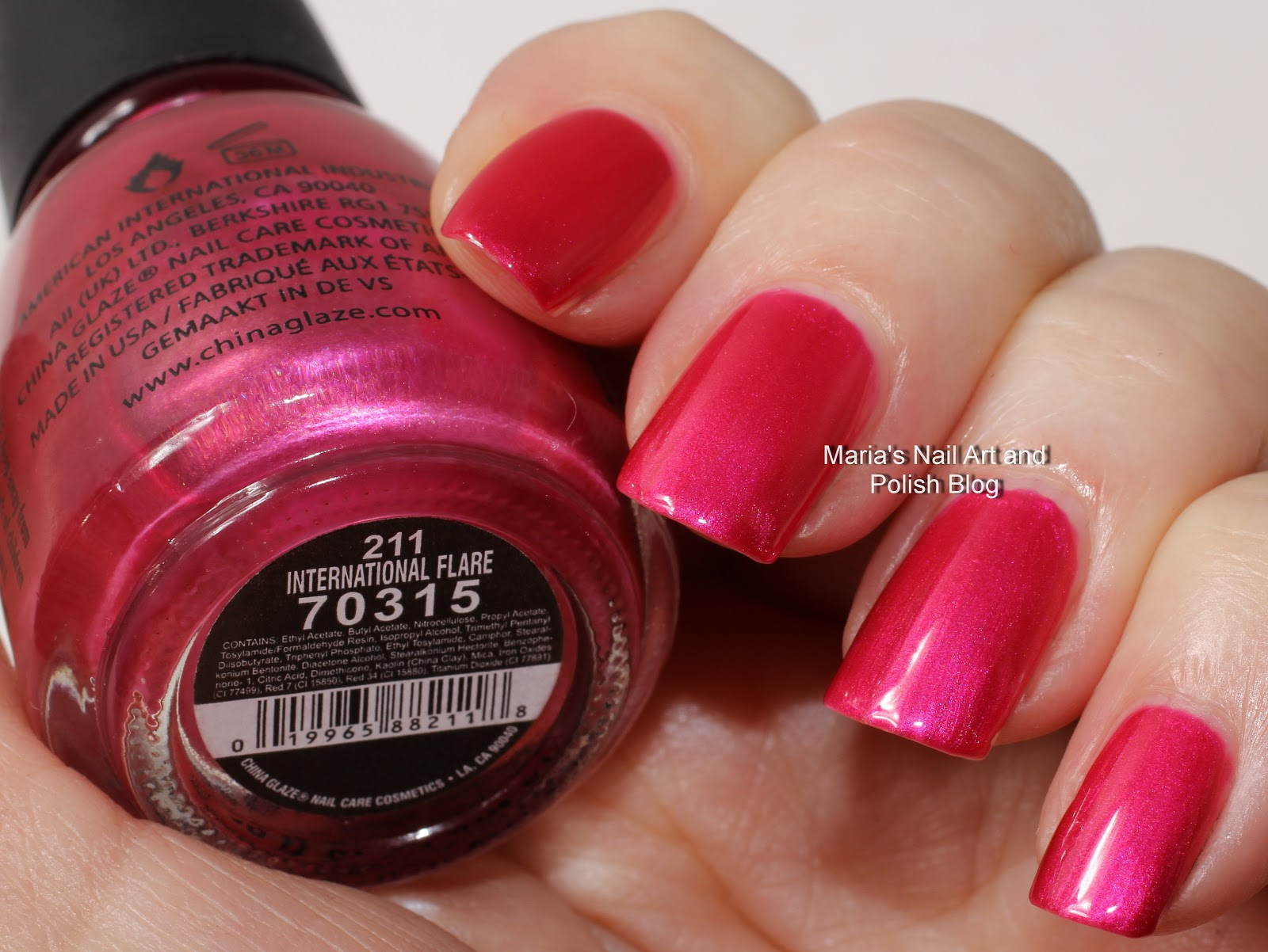 Marias Nail Art And Polish Blog China Glaze International Flare