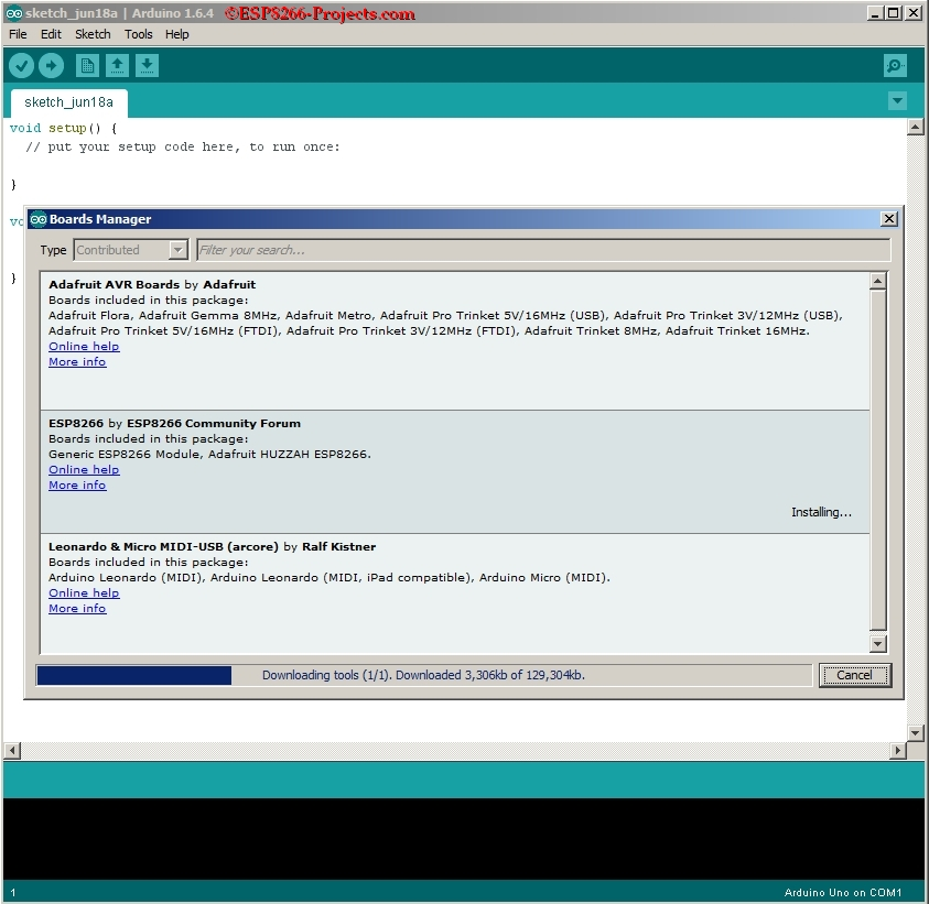 ESP8266 + Arduino IDE 1 6 4 Portable - Full Quick Install Guide : 3