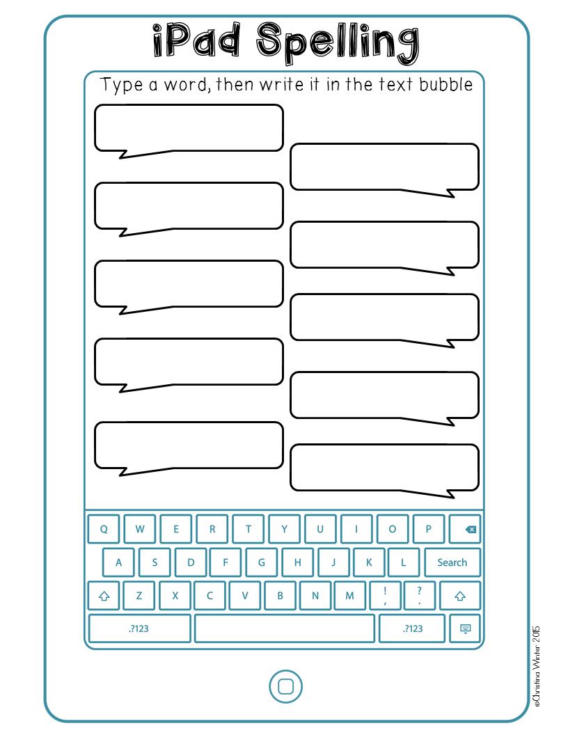 Spelling writing activities