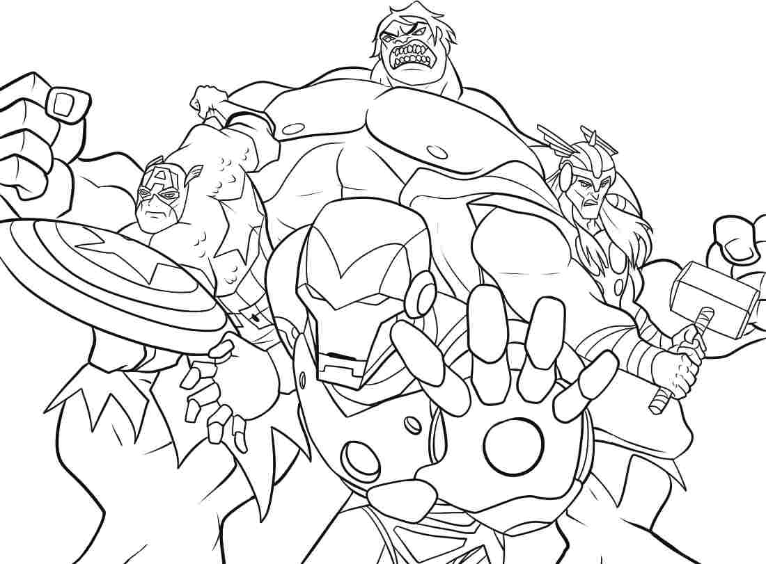 Coloring Games for Kids: Avengers Coloring Pages Printable