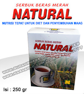 SERBUK BERAS MERAH NATURAL Rp.30.000,-