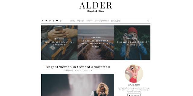 Alder Blogger Template