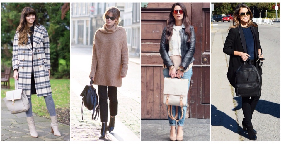 dcd7c68ded085 Per un look più informale abbina il tuo zaino a pantaloni skinny e maxi  coat