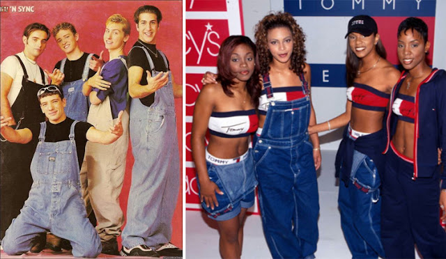 NYC cast and destiny's child sporting dungarees in 90s