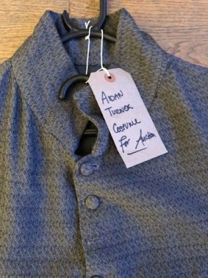 Aidan Turner, Poldark, auction, INK Festival, waistcoat