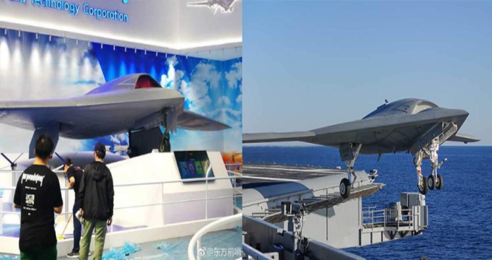 UAV mirip dengan Northrop Grumman X-47B nongol di pameran penerbangan terbesar China