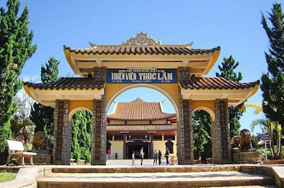 Ga cuối của cáp treo là Thiền viện Trúc Lâm Đà Lạt.