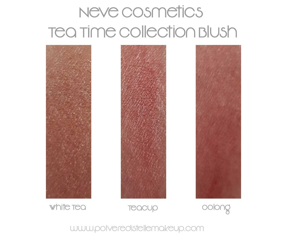 Neve Cosmetics Swatches Blush Tea Time Collection