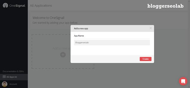 free web push notification widget in blogger blog