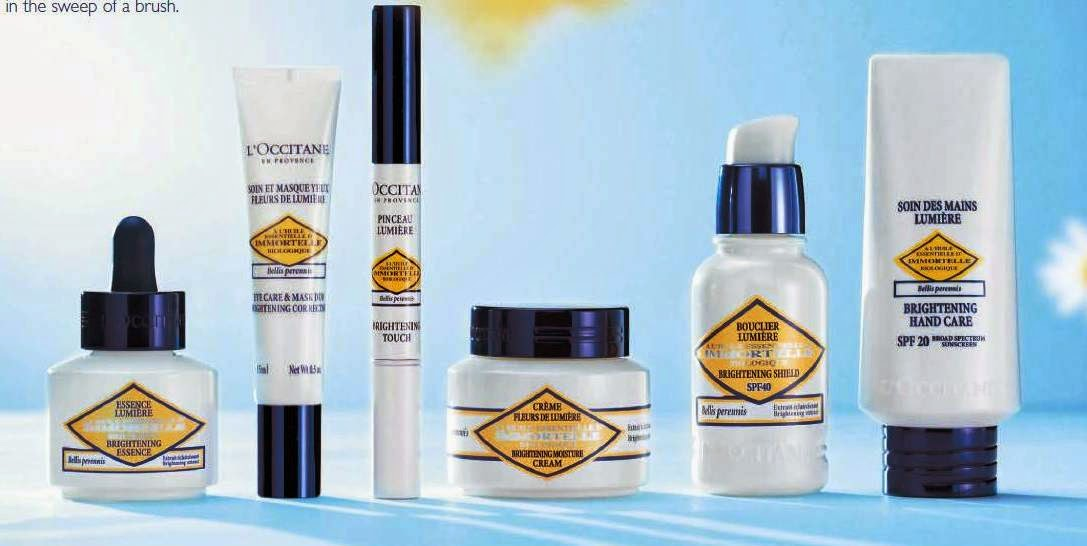 Anti Ageing Brightening Skincare Routine, L'Occitane Immortelle Brightening, L'Occitane, Immortelle Brightening, skincare, Brightening Essence, Eye Care & Mask Duo Brightening Correction, Brightening Touch Corrector, Moisture Cream, Brightening Shield SPF40, Brightening Hand Care SPF20, Brightening Moisture Mask