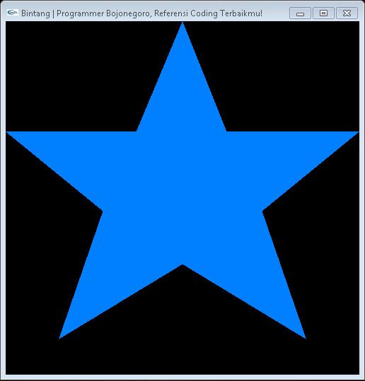 Cara Membuat Objek Bintang Dengan OpenGL Menggunakan CodeBlocks