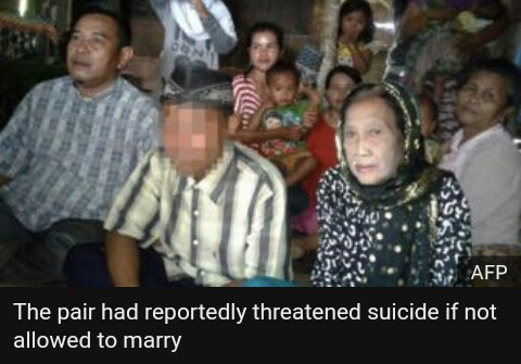 Meet the 16years old Indonesian teenager who married a 71years old woman.against the law and custom.,