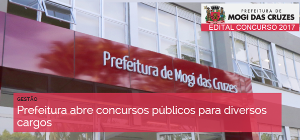 Prefeitura de Mogi das Cruzes Inscrições concurso público 2017