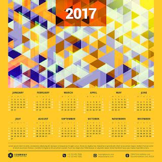 2017カレンダー無料テンプレート157