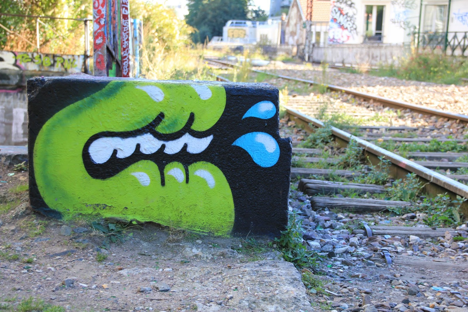 graffiti par yosh le poisson