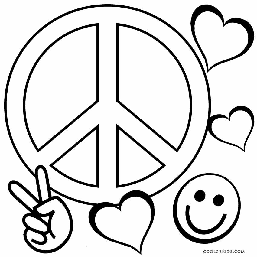 Peace coloring pages for Peace love happiness coloring pages