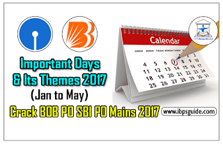 Static GK Awareness (Day-6) - Important Days & its Themes 2017 (Jan to May)