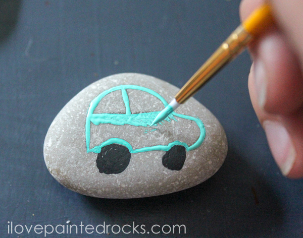 How to paint rocks step by step