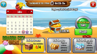Calendário de Sol e Praia - Novidade!