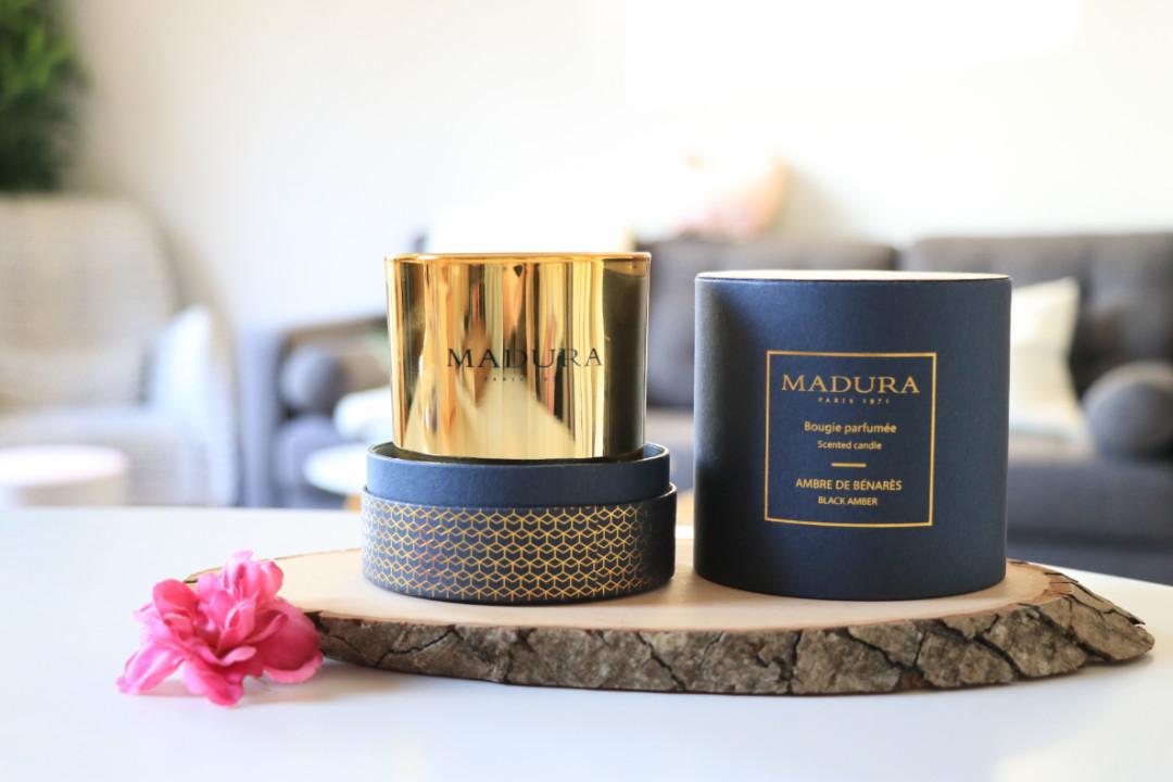 bougie madura ambre bois cedre luxe idee cadeaux