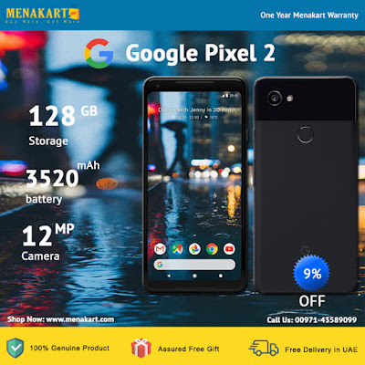 Google Pixel 2 XL - 128GB, 4GB RAM, 4G LTE, Just Black