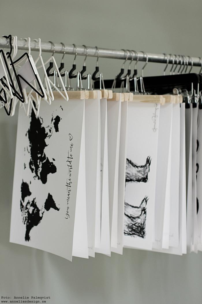 posters, inredning, annelies design, print, prints, konsttryck, tavla, tavlor, världskarta, inredningsbutik, varberg,