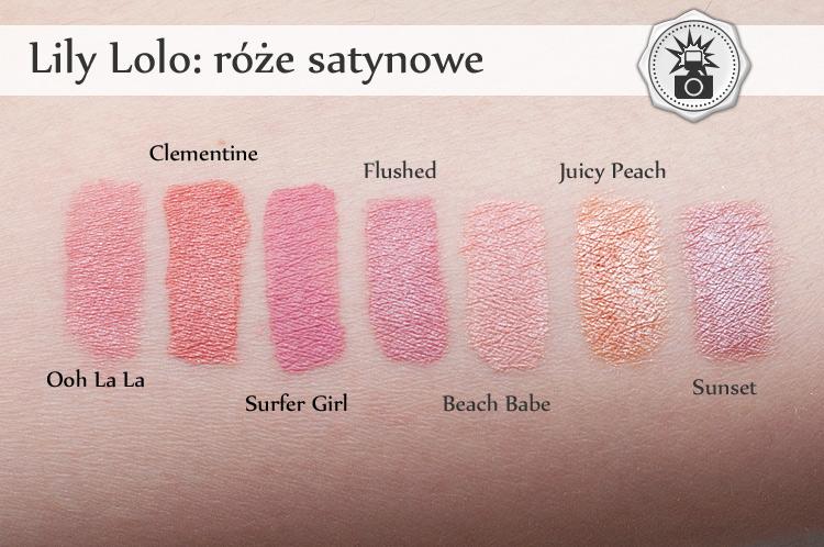 Lily Lolo róże swatche