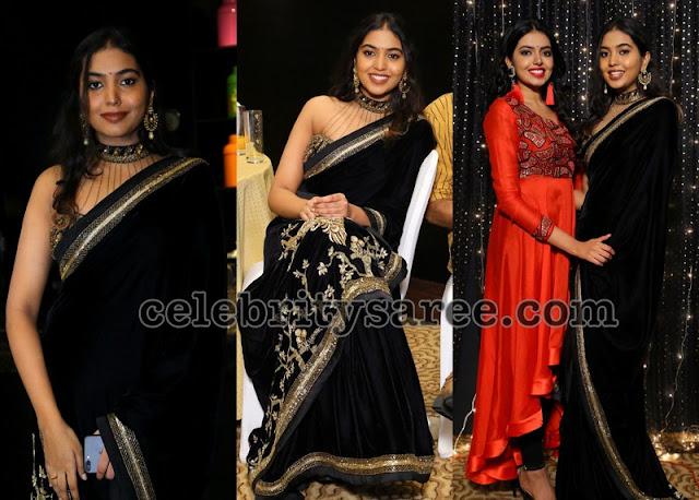 Rajashekar Daughter Shivatmika Black Saree