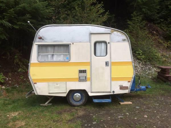 vintage small trailer 1972 sprite travel trailer rv camper. Black Bedroom Furniture Sets. Home Design Ideas