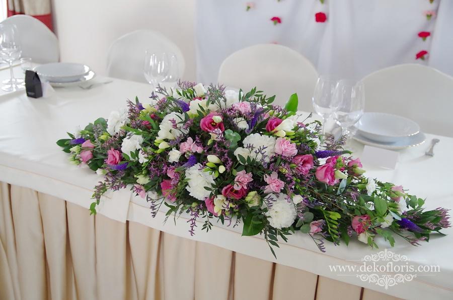 Pałac Sulisław wesele różowo fioletowe dekoracje