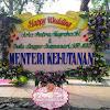 Bunga Papan Happy Wedding Menteri Kehutanan