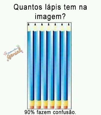 Quantos lápis tem na imagem? - 90% fazem confusão