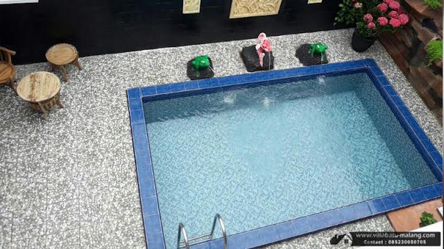 Villa purnama fasilitas kolam renang di kota batu malang