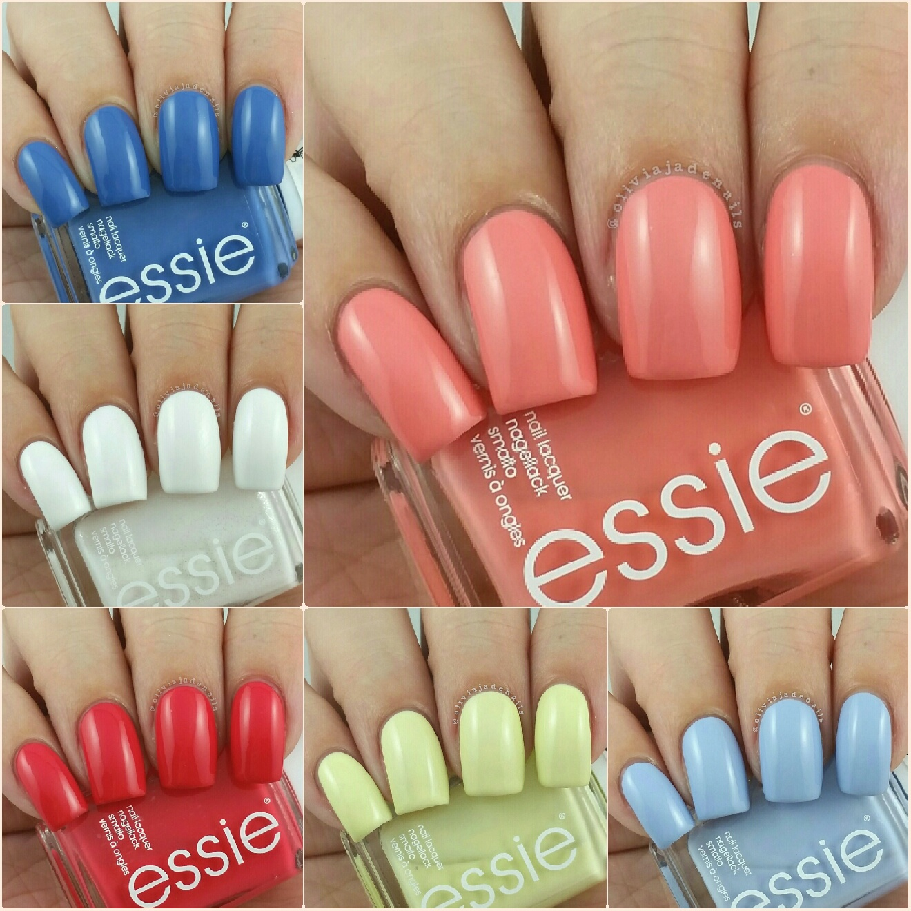 Olivia Jade Nails: Essie Summer 2015 Collection - Swatches & Review