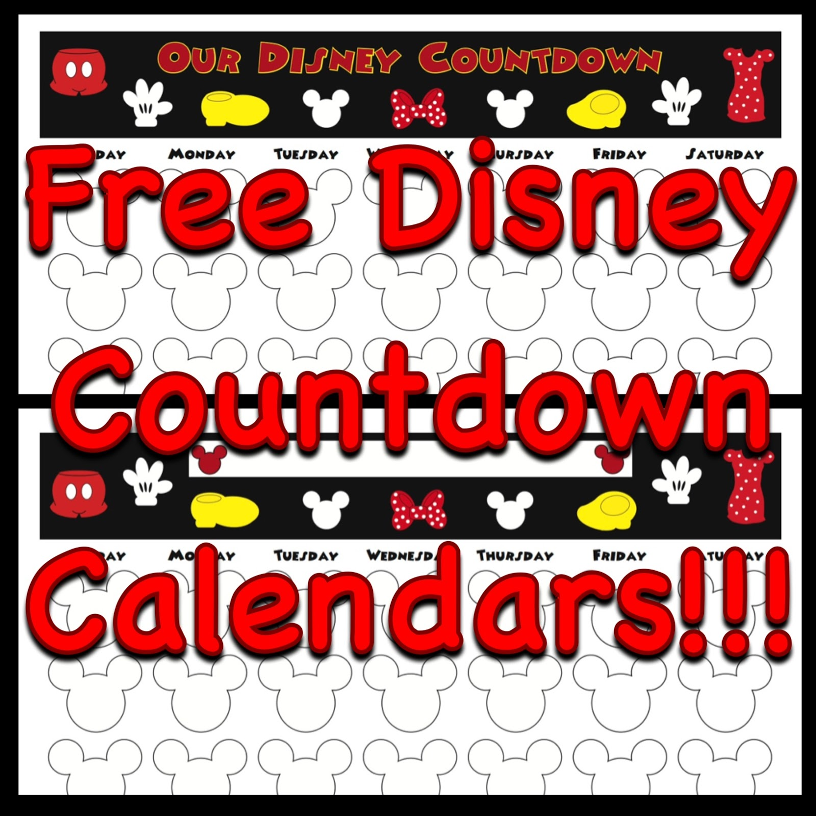 photograph about Disney Countdown Calendar Printable called My Disney Existence: Countdown Calendars