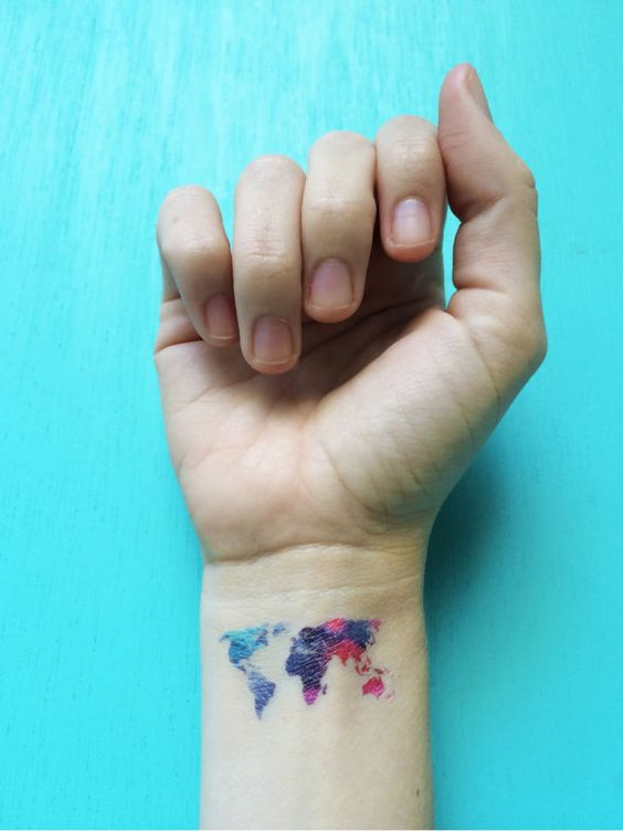 Mytattooland world map tattoos advertisement continue reading below gumiabroncs Image collections