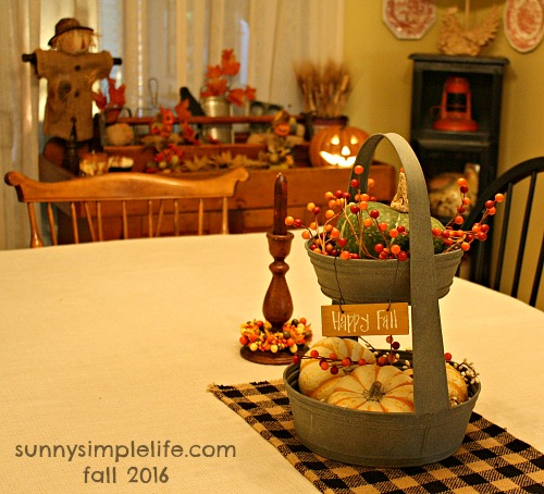 fall dining room