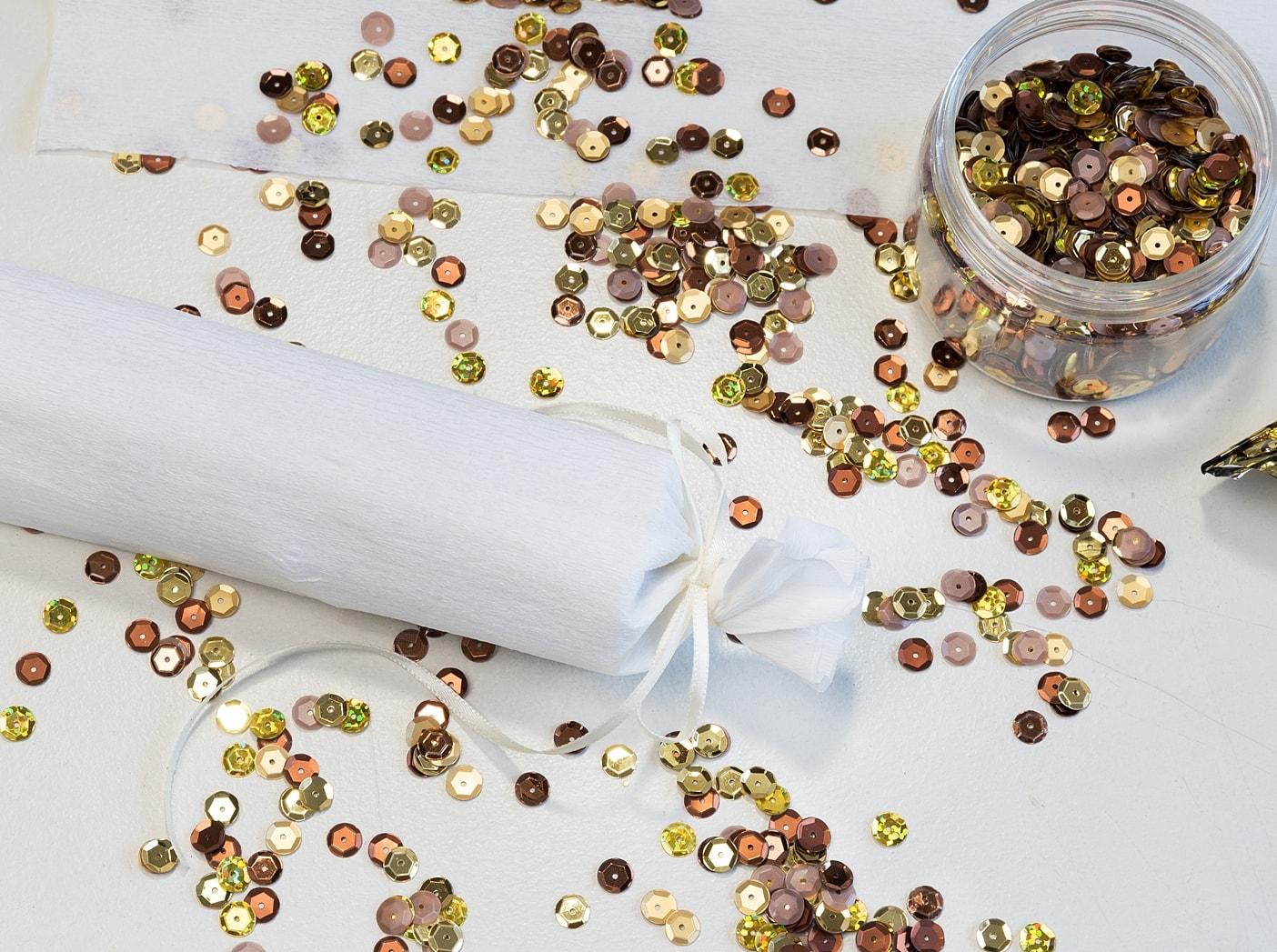Silvesterdeko selber machen - Partyhut & Knallbonbons - White and ...