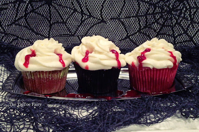 Blood Sucking Cupcakes | The TipToe Fairy #halloween #cupcakes #cupcakerecipes