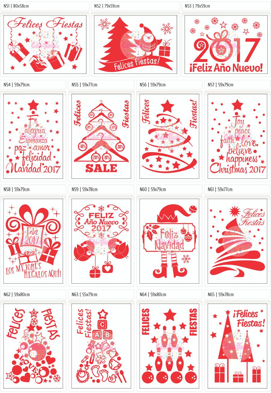 vinilos navideños, vinilos para vidrieras navidad,Vinilos Navidad 2016, Feliz Año Nuevo 2017, Carteles, Vidrieras, vinilos decorativo, vinilos trineos, vinilos arboles navidad