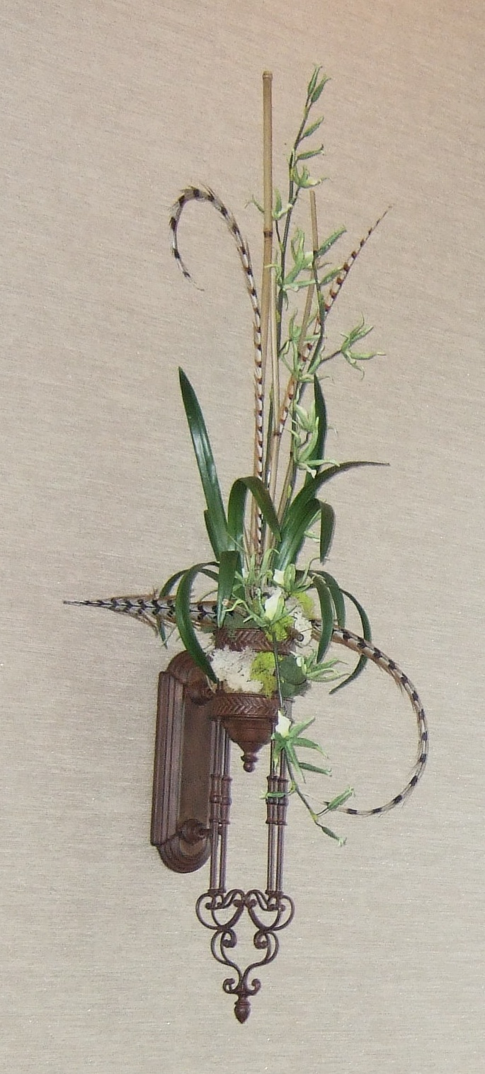 Ana Silk Flowers: Images!!!...Wall Sconces Silk Flowers ... on Wall Sconce Floral Arrangements Arrangement id=42771