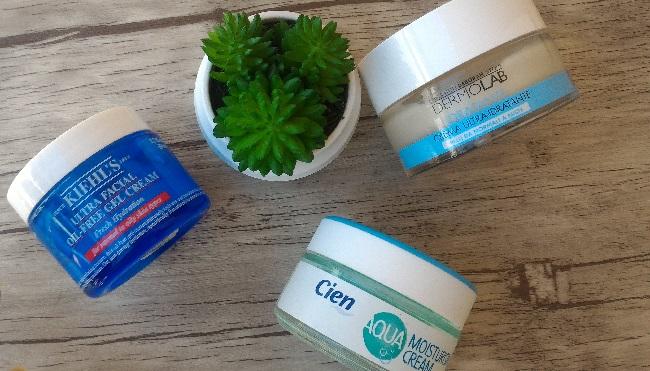 Rutina Facial - Cremas faciales hidratantes de Kiehl's, Lidl y Dermolab