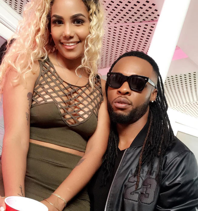 Social media goes gaga as Flavour laps light-skinned female fan