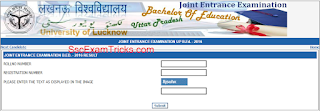 UP B. Ed Result 2016 Declared