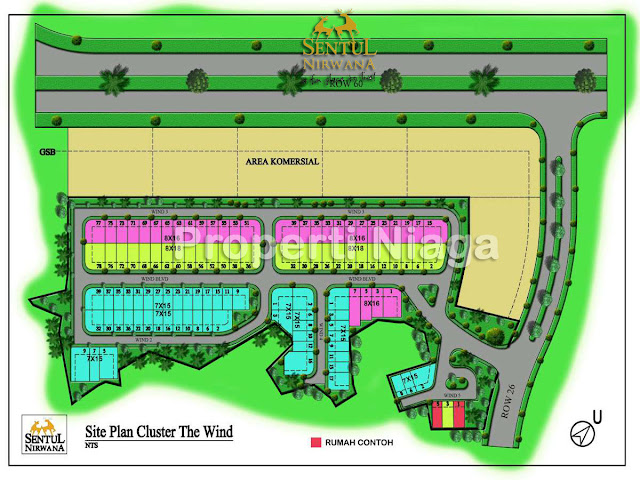site-plan-Cluster-The-Wind-Sentul-Nirwana