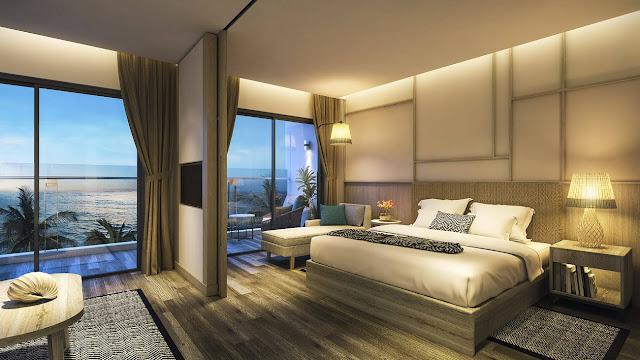 Bảng giá condotel Parami Hồ Tràm Vũng Tàu - Thiết kế phòng ngủ