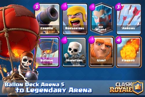 Deck Balloon Terbaik Arena 5 Hingga Ke Legendary Arena!