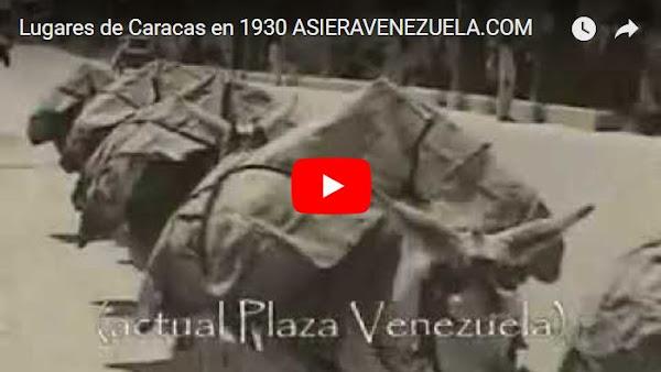 Caracas en el año 1930 como nuca la habías visto