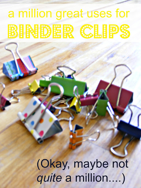 the complete guide to imperfect homemaking a million great uses for binder clips. Black Bedroom Furniture Sets. Home Design Ideas