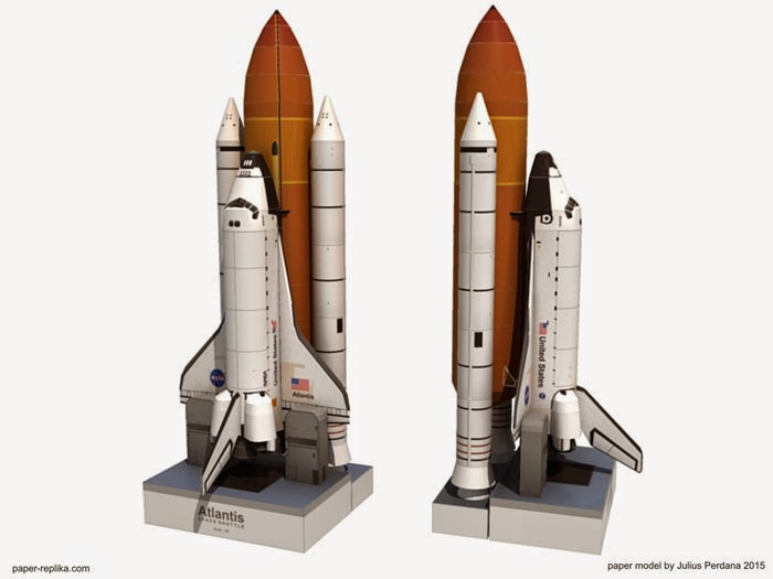 atlantis space shuttle papercraft - photo #3